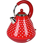 more details on Kalorik Classic Polka Dot Stainless Steel Kettle - Red&White