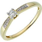 more details on 18ct Gold 0.10ct Diamond Solitaire Ring.