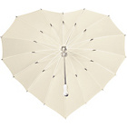 more details on Heart Umbrella - Ivory.