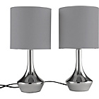 more details on ColourMatch Pair of Touch Table Lamps - Smoke Grey.