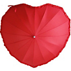 more details on Frilly Heart Umbrella - Red.