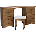 more details on Nordic Dressing Table and Stool - Pine.