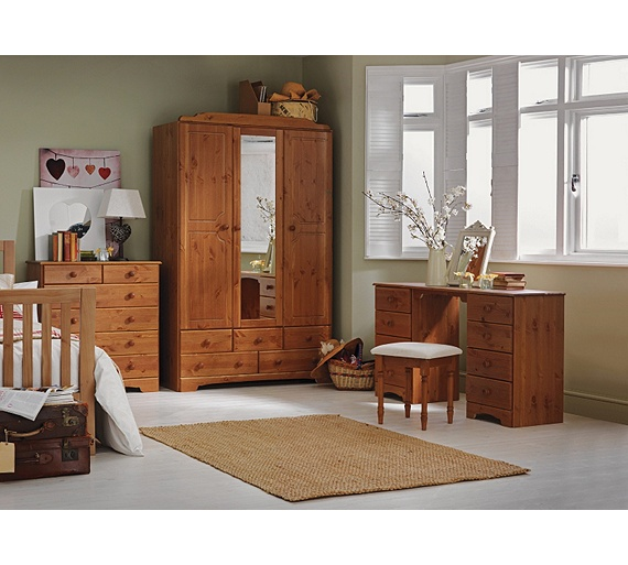 Buy HOME Nordic Dressing Table And Stool