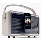 more details on View Quest Retro DAB Radio with iPhone Dock - Cream.