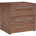 more details on Hygena Atlas 2 Drawer Bedside Chest - Walnut Effect.