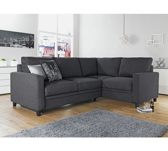 Buy hygena seattle fabric left hand corner sofa bed for Seattle sofa bed