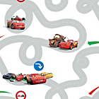 more details on Disney Cars Racetrack Wallpaper Sample - Multicoloured.