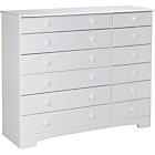 more details on Nordic 6+6 Drawer Chest - White.