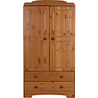 more details on HOME Nordic 2 Door 2 Drawer Compact Wardrobe - Pine.