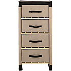 more details on Polycotton and Pine 4 Drawer Storage Unit - Chocolate.