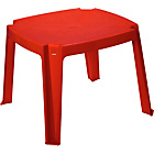 more details on Chad Valley Children's Square Plastic Table - Red.