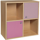 more details on Phoenix Storage Cube - Pink on Beech