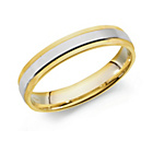 more details on 9ct White and Yellow Gold Heavyweight Wedding Ring ‑ 4mm.