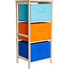 more details on 3 Drawer Canvas Storage Unit - Blue.