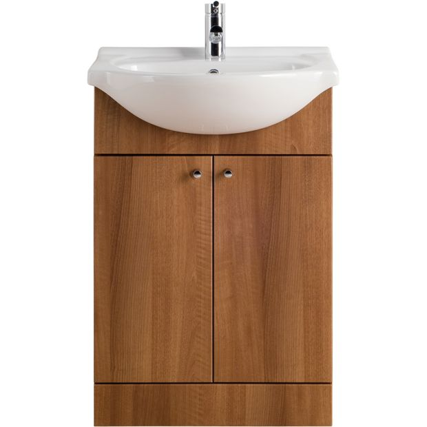 Buy Eliana Ferne Walnut Effect Vanity Unit And Basin 550mm At Your Online Shop For