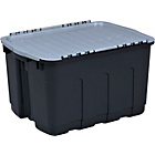 more details on Curver 63 Litre Heavy Duty Tuff Storage Crate - Black/Grey.