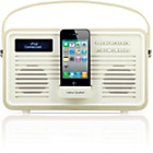 more details on View Quest Retro DAB Radio with 30-Pin iPod Dock - Cream.