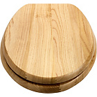 more details on Collection Solid Wood Slow Close Toilet Seat - Light Oak.