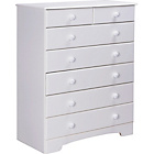 more details on Nordic 5+2 Drawer Chest - White.