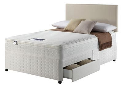 Buy Sealy Repose Cushion Top Double Divan At Your Online Shop For Divan Beds