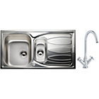 more details on Phlox Luxury Kitchen Sink with 1.5 Bowl and Dual Handle Tap.