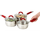more details on Russell Hobbs Rosso 3 piece Stainless Steel Pan Set.