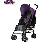 more details on Obaby Atlas Black and Grey Stroller - Purple.