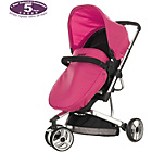 more details on Obaby Chase 3 Wheeler Pramette - Black and Pink.