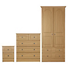 more details on Collection Stratford 3 Pc 2 Door Wardrobe Package-Oak Effect