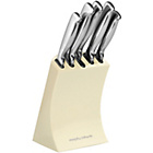 more details on Morphy Richards Accents 5 Piece Knife Block - Cream.