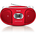 more details on Philips AZ105R/05 Boombox with CD Player - Red.