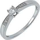 more details on 18ct White Gold 0.10ct Diamond Solitaire Ring.