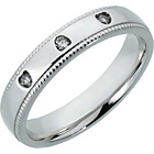 more details on Sterling Silver Diamond Set Wedding Band - 4mm.