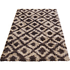 more details on Diamond Shaggy Chocolate Rug - 160 x 230cm.