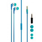 more details on Xqisit PTT Universal In-Ear Headphones - Blue.