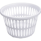 more details on Round Laundry Basket - White.