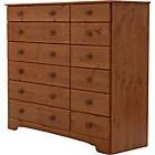 more details on Nordic 6+6 Drawer Chest - Pine.