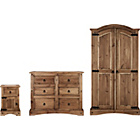 more details on Puerto Rico 3 Piece 2 Door Wardrobe Package - Dark.