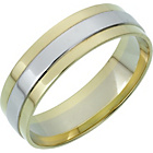 more details on 9ct White and Yellow Gold Heavyweight Wedding Ring.