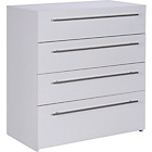 more details on Hygena Atlas 4 Drawer Chest - White.