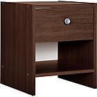 more details on HOME Seville 1 Drawer Bedside Chest - Wenge Effect.