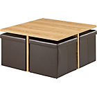 more details on HOME Ohio Ottoman Coffee Table - Chocolate and Oak Effect.
