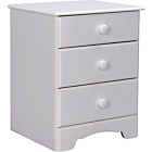 more details on Nordic 3 Drawer Bedside Chest - White.