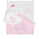more details on Baby Elegance Bed-in-a-Box Nursery Bedding Set - Pink.