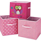 more details on Canvas Storage Boxes - Pink.