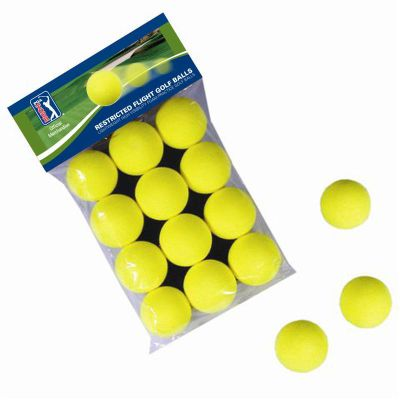 PGA Tour 12 Foam Golf Balls - Yellow