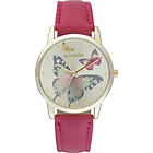 more details on Accessorize Ladies' Butterfly Dial Leather Strap Watch.