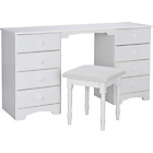 more details on Nordic Dressing Table and Stool - White.