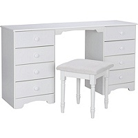 Nordic Dressing Table and Stool (White)