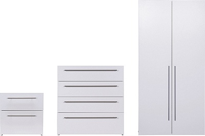 Buy Hygena Atlas 3 Piece 2 Door Wardrobe Package - White ...